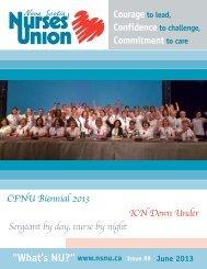June 2013.indd - Nova Scotia Nurses' Union