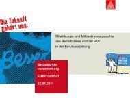 Mitbestimmung Berufsbildung - IG Metall - Wiesbaden - Limburg