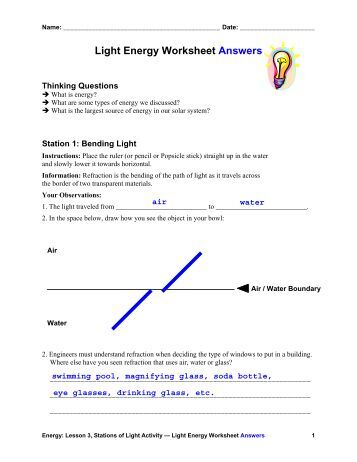 Worksheets Properties Of Light Worksheet all about outline answers teach engineering light energy worksheet pdf engineering
