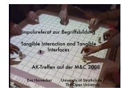 Impulsreferat zur Begriffsbildung Tangible Interaction and ... - DiMeB