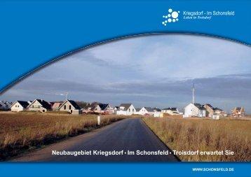 Broschüre Neubaugebiet Im Schonsfeld.indd - Stadt Troisdorf