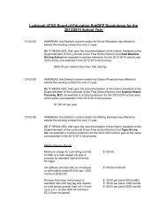 Board Resolutions 2013 - Lynbrook High School