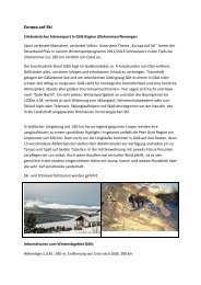 Europa auf Ski - Skiverband Pfalz eV