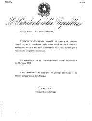 VISTI gli articoli 77 e 87 della Costituzione; RITENUTA la ...