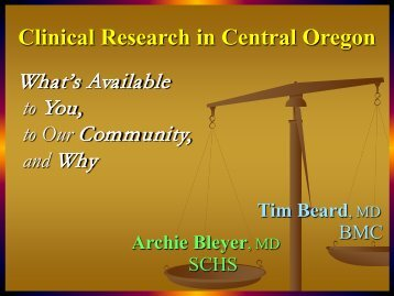 Clinical Research In Central Oregon - Stcharlesresearch.org