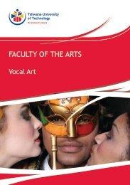 Vocal Art - Tshwane University of Technology