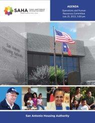 July 25, 2013 - San Antonio Housing Authority