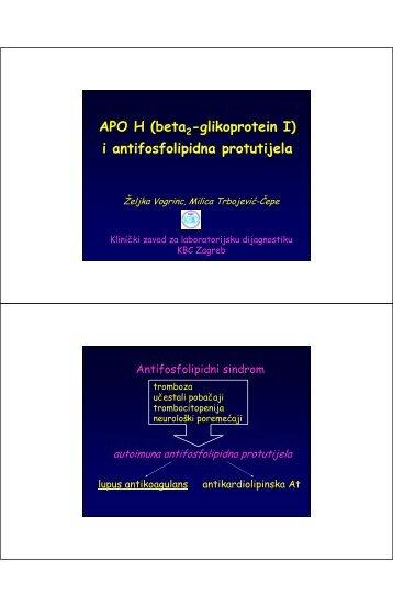 i antifosfolipidna protutijela - Klinički zavod za kemiju