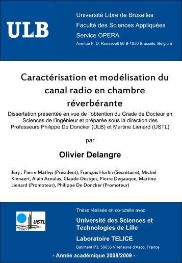 Diapositive 1 - de l'Université libre de Bruxelles