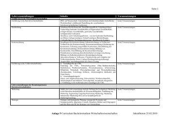 Seite 1 Anlage 5 Curriculum Bachelorstudium ... - UZR.AT
