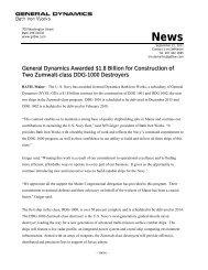 BIW awarded DDG 1001 & 1002 Construction ... - Bath Iron Works