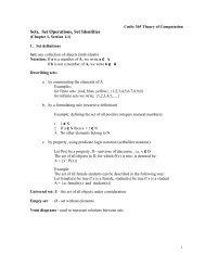 CmSc 365 Theory of Computation