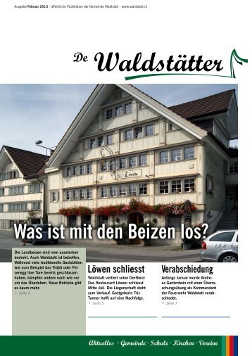 de Waldstätter - Februar 2013 [PDF, 3.00 MB] - Gemeinde Waldstatt