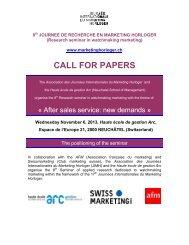 CALL FOR PAPERS - Journée Internationale du Marketing Horloger
