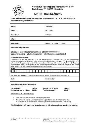 Verein für Rasenspiele Nierstein 1911 e - VfR Nierstein 1911 eV