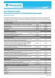 blau Mobilfunk GmbH blauworld Preisliste für - Prepaid-wiki