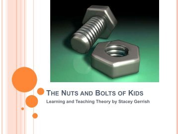 THE NUTS AND BOLTS OF KIDS - USSA