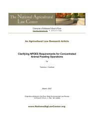 Clarifying NPDES Requirements for Concentrated Animal Feeding