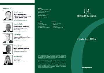Middle East brochure - Charles Russell