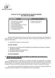 1 ACTA Nº 121 DE LA REUNIÓN DEL GRUPO DE MEJORA DEL ...