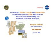 Soil Moisture Physical Controls and Time Stability ... - SMAP - NASA