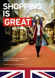 A report on the UK's appeal as a shopping destination - VisitBritain