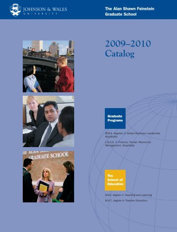 2009–2010 Catalog - Johnson & Wales University