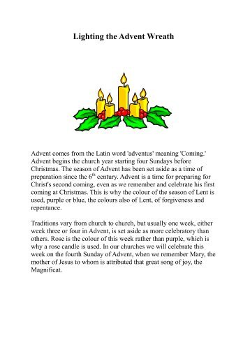 sc 1 st  Yumpu & Advent Candle Lighting Readings - World Vision Canada