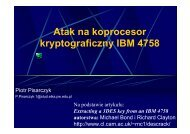 Atak na koprocesor kryptograficzny IBM 4758 - cygnus
