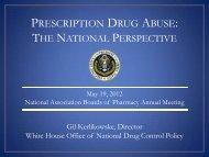 Prescription Drug Abuse - National Association of Boards of Pharmacy