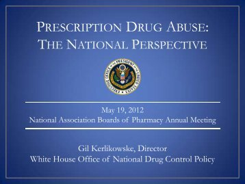 Prescription Drug Abuse - National Association of Boards of Pharmacy