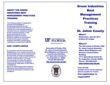 Green Industries Best Management Practices Training in St. Johns ...
