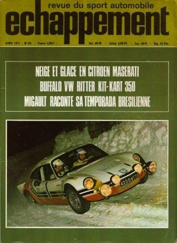 16/11/2007 Docs / Revue de Presse / 1971 / Echappement n°30