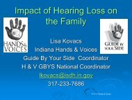 Impact of Hearing Loss on the Family [PDF] - National Center for ...