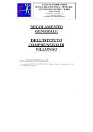 Regolamento d'Istituto - dell'Istituto comprensivo di Villongo