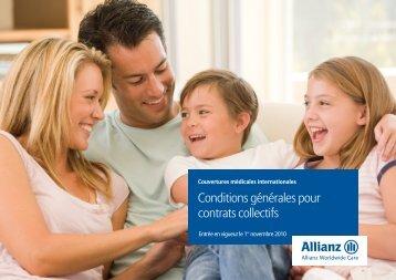 Entrée en vigueur le 1er novembre 2010 - Allianz Worldwide Care
