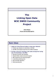 The Linking Open Data W3C SWEO Community Project