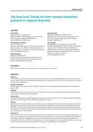 The long haul - Australian Journal of Advanced Nursing