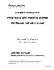 Lifetime™ / Evolution™ Whirlpool and Baths Operating and User ...