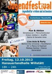 Freitag, 12. Oktober 2012, 18 - 24 Uhr - Willstätt