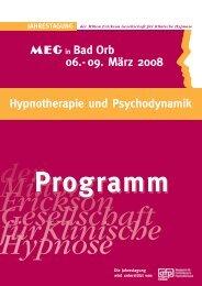Programm Bad Orb 08 - MEG Jahrestagung 2014