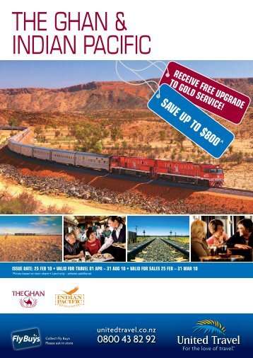 THE GHAN & INDIAN PACIFIC - Bon Voyage Cruises & Travel