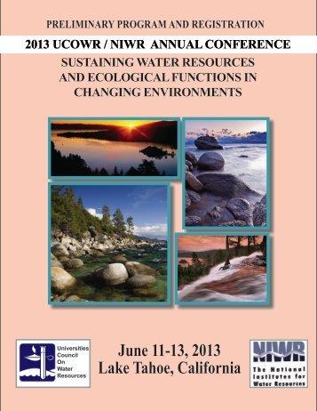 June 11-13, 2013 lake tahoe, California - University Council on ...