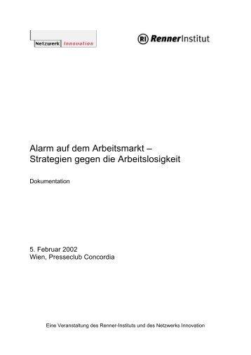 Alarm auf dem Arbeitsmarkt – Strategien gegen die ... - s3plus.info