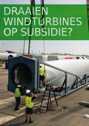 Rapport Draaien windturbines op subsidie - Provincie Drenthe