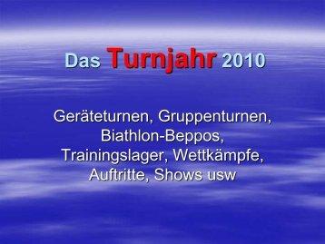 Das Turnjahr 2010 - SV Ruhpolding