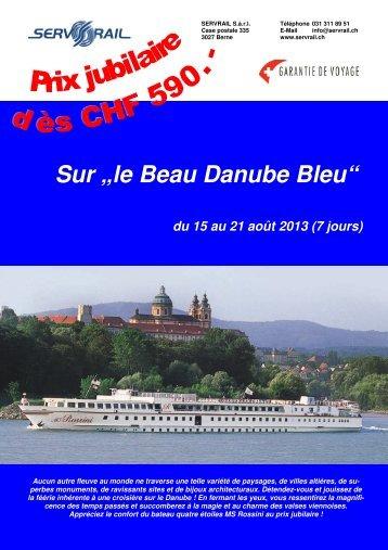 """Sur """"le Beau Danube Bleu"""" - SERVRail"""