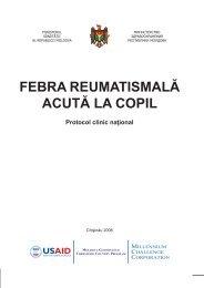 FEBRA REUMATISMALĂ ACUTĂ LA COPIL - Ministerul Sănătăţii
