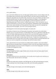 TOP 3 und Spielanalyse zum Spiel gegen FC - SV-Ruppertshain