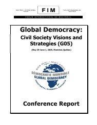 Global Democracy: Civil Society Visions and Strategies (G05) - NGLS